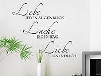 Spruch Wandtattoo Lebe jeden Augenblick als dekorative Wandgestaltungsidee