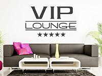 Lounge Wandtattoo 5-Sterne VIP Lounge auf heller Wand