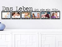 Fotorahmen Wandtattoo Film auf heller Wand