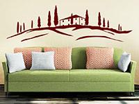 Wandtattoo Haus in der Toskana im Wohnzimmer