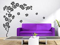 Wandtattoo Kirschblüten im Wohnzimmer