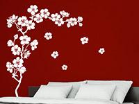 Wandtattoo Kirschblüten in weiß