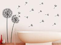 Wandtattoo Vom Winde verwehte Pusteblumen im Bad