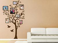 Wandtattoo Baum für Fotos im Wohnzimmer