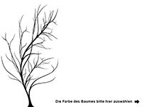 Wandtattoo Baum mit Blätter im Wind Motivansicht