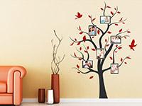Fotorahmen Wandtattoo Baum mit Bilderrahmen im Wohnzimmer
