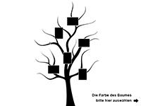 Wandtattoo Baum mit Bilderrahmen Motivansicht