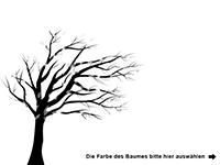 Wandtattoo Baum im Wind Motivansicht