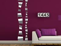Banner Wandtattoo Streifen im Wohnzimmer