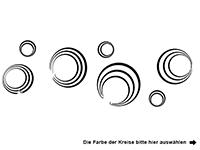 Wandtattoo Ornament Kreise und Sterne Motivansicht