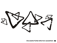 Wandtattoo Ornament Retro Dreiecke Motivansicht
