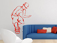 Wandtattoo Hip-Hopper im Jugendzimmer in rot