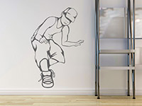 Stylisches Jungenzimmer Wandtattoo Hip-Hopper