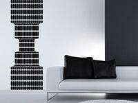 Wandtattoo Retro Banner 3D in schwarz hinter dem Sofa