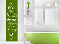 Wandtattoo Banner Wellness  im Bad