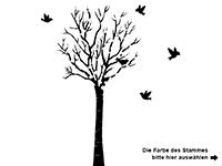 Wandtattoo Frühlingsbaum Motivansicht