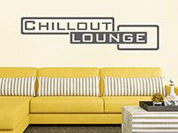 Chillout Lounge Wandtattoo im Wohnzimmer