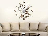 Wandtattoo Uhr Kaffeezeit im Wohnzimmer