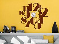 Wandtattoo Uhr große Zahlen | Bild 4