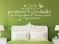Wandtattoo Ein positiver Gedanke am Morgen...