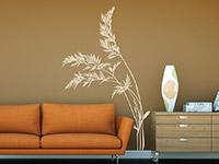 Wandtattoo Wildkräuter im Wohnzimmer in beige