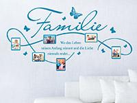 Fotorahmen Wandtattoo Bilderrahmen Familie in Farbe