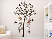 Wandtattoo Dekorativer Fotorahmen Baum im Wohnzimmer