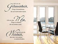 Gelassenheit Mut Weisheit Wandtattoo Spruch in der Wohnküche