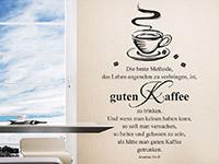 Wandtattoo Guten Kaffee in der Küche