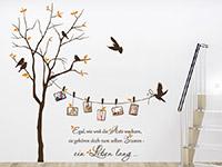 Wandtattoo Zweifarbiger Baum mit Fotorahmen und Spruch | Bild 2