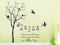 Wandtattoo Zweifarbiger Baum mit Fotorahmen und Spruch | Bild 3