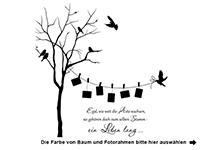 Wandtattoo Baum mit Fotorahmen und Sprichwort Motivansicht