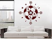 Wandtattoo Uhr Fußball