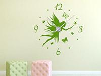 Wandtattoo Uhr Fee im Kinderzimmer