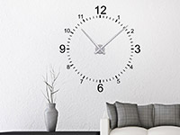 Klassische Wandtattoo Uhr im Wohnbereich