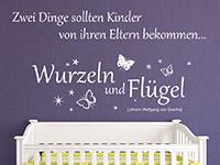 traumhaftes Baby Spruch Wandtattoo mit Schmetterlingen und Sternen