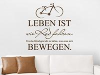 Wandtattoo Leben ist wie Rad fahren