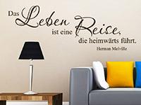 Zitat Wandtattoo Das Leben ist eine Reise... als dekorative Wandgestaltungsidee