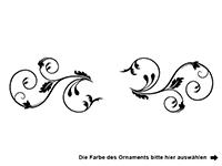 Wandtattoo Zweifarbiges Schmetterlingsornament Motivansicht