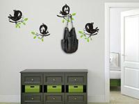 Wandtattoo Garderobe Süße Vögelchen | Bild 2