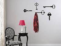Wandtattoo Garderobe Schlüssel im Flur