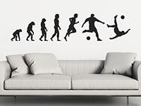 Sport Wandtattoo Fußball Evolution auf heller Wand