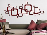 Wandtattoo Retro Design Ornament im Wohnzimmer