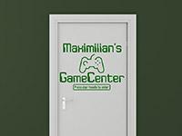 Wandtattoo GameCenter mit Wunschname im Jugendzimmer