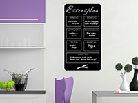 Tafelfolie Essensplan in der Küche