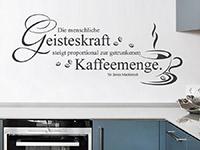 Wandtattoo Geisteskraft in der Küche