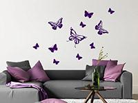 Wandtattoo Schmetterlingsflug | Bild 2