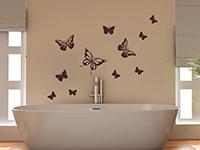 Wandtattoo Schmetterlingsflug | Bild 4