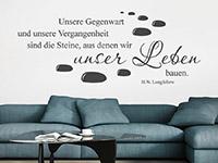 Zitat Wandtattoo Unser Leben über der Couch