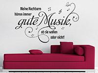 Wandtattoo Gute Musik im Wohnzimmer